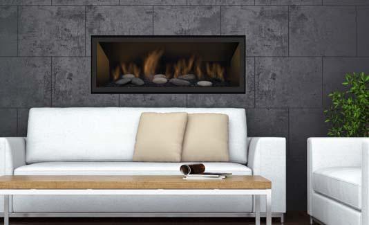 Sierra Flame BENNETT-45-LP 45 in. Bennett Linear Direct Vent Gas Fireplace - Liquid Propane 2