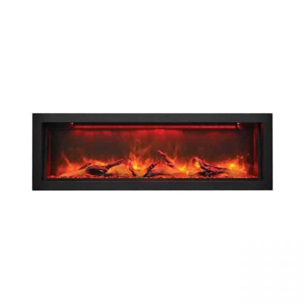 Sierra Flame Electric Fireplace with Black Steel Surround