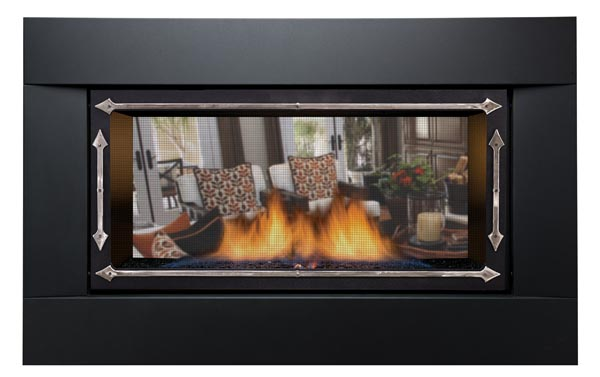 Sierra Flame PALISADE-36-DELUXE-NG 36 in. See-Thru Palisade Deluxe Linear Direct Vent Gas Fireplace - Natural Gas 1