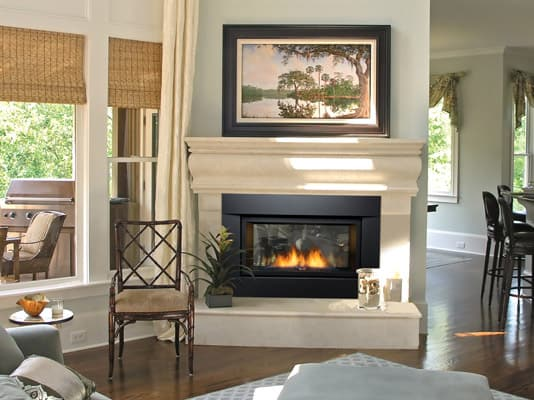 Sierra Flame PALISADE-36-DELUXE-NG 36 in. See-Thru Palisade Deluxe Linear Direct Vent Gas Fireplace - Natural Gas 2