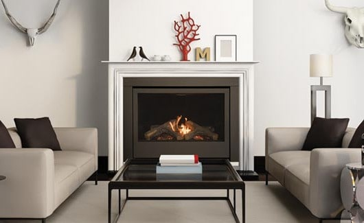 Sierra Flame THOMPSON-36-DELUXE-NG 36 in. Thompson Deluxe Linear Direct Vent Gas Fireplace - Natural Gas 1