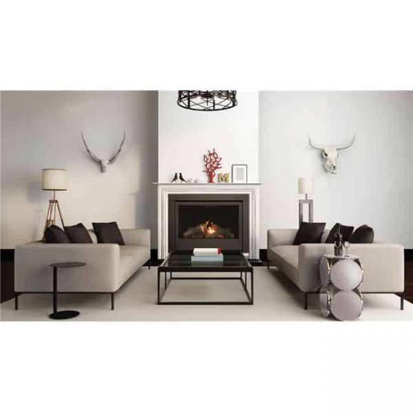 Sierra Flame THOMPSON-36-DELUXE-NG 36 in. Thompson Deluxe Linear Direct Vent Gas Fireplace - Natural Gas