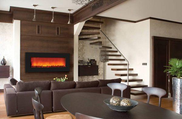 "Sierra Flame Zero Clearance Electric Fireplace, 42"" 1"