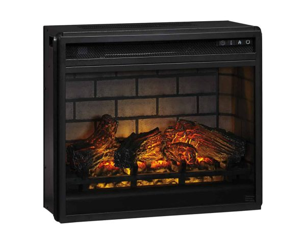 Signature Design by Ashley Entertainment Accessories Black Fireplace Insert Infrared