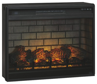 Signature Design by Ashley Entertainment Accessories Black LG Fireplace Insert Infrared 1