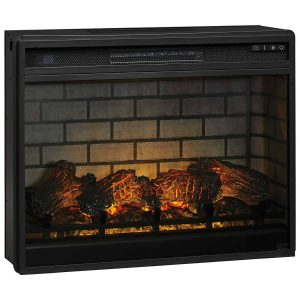 Signature Design by Ashley Entertainment Accessories Black LG Fireplace Insert Infrared