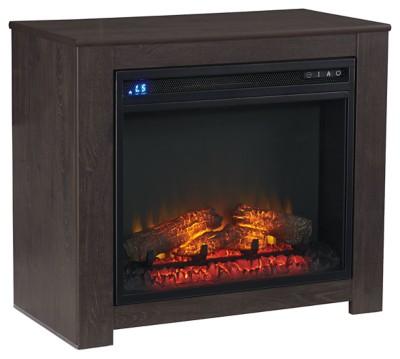 Signature Design by Ashley Harlinton Two-tone Fireplace Mantel w/FRPL Insert 1