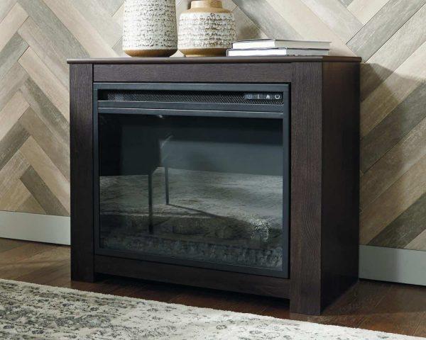Signature Design by Ashley Harlinton Two-tone Fireplace Mantel w/FRPL Insert 3