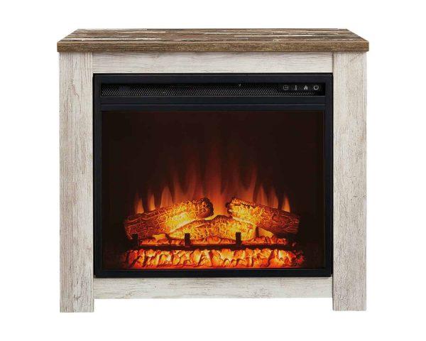 Signature Design by Ashley Willowton Whitewash Fireplace Mantel w/FRPL Insert 2