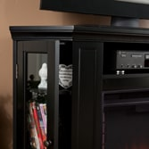 Silverado Color Changing Convertible Fireplace - Black 7
