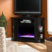 Silverado Color Changing Convertible Fireplace - Black