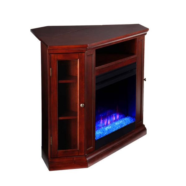 Silverado Color Changing Convertible Fireplace - Cherry 1