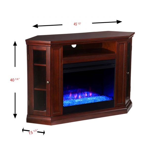 Silverado Color Changing Convertible Fireplace - Cherry 3