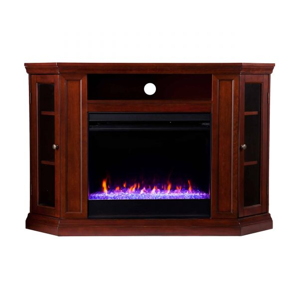 Silverado Color Changing Convertible Fireplace - Cherry 4
