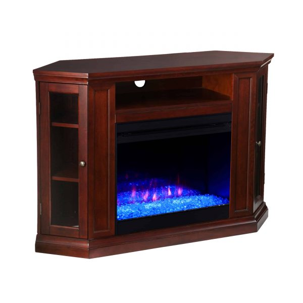 Silverado Color Changing Convertible Fireplace - Cherry 5