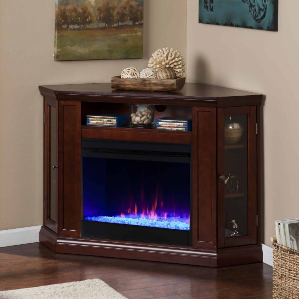 Silverado Color Changing Convertible Fireplace - Cherry 6