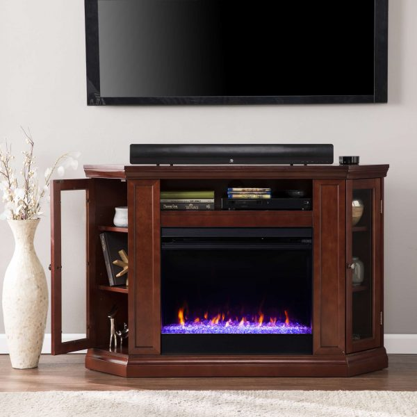 Silverado Color Changing Convertible Fireplace - Cherry