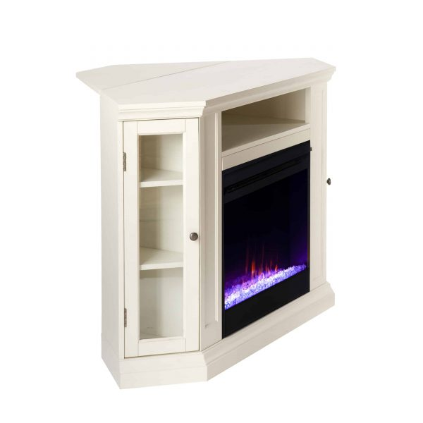 Silverado Color Changing Convertible Fireplace - Ivory 1