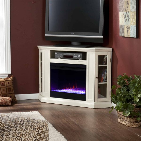 Silverado Color Changing Convertible Fireplace - Ivory 2