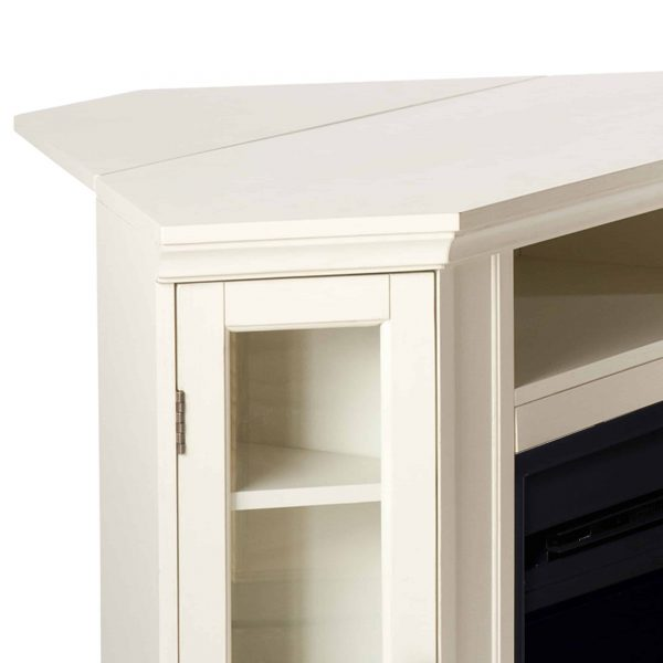 Silverado Color Changing Convertible Fireplace - Ivory 4