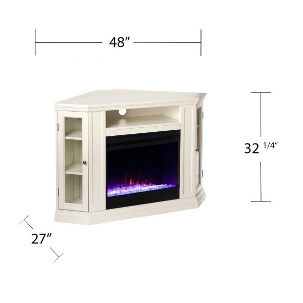 Silverado Color Changing Convertible Fireplace - Ivory 6