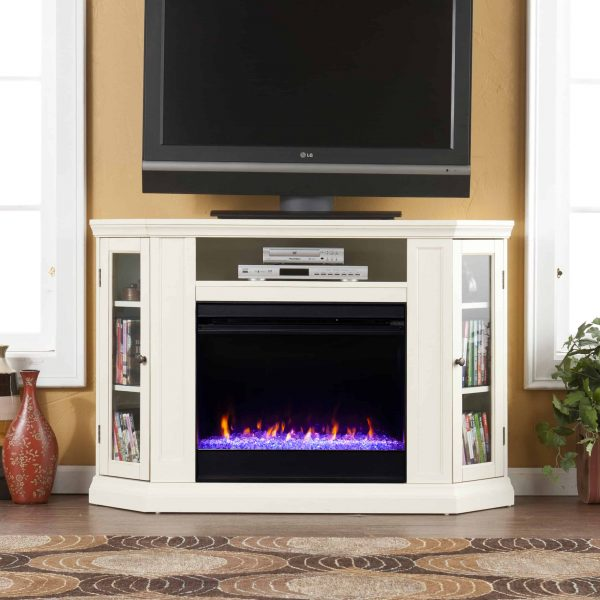 Silverado Color Changing Convertible Fireplace - Ivory