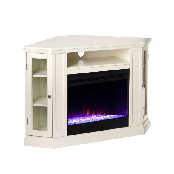 Silverado Color Changing Convertible Fireplace - Ivory 7