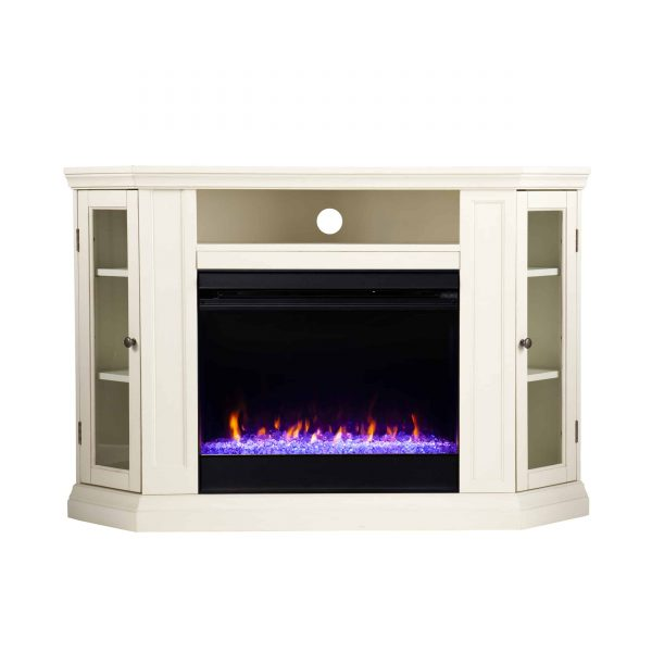Silverado Color Changing Convertible Fireplace - Ivory 8