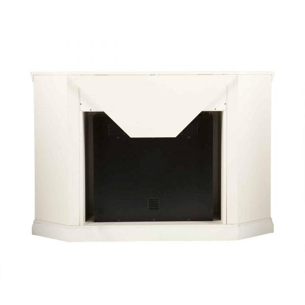 Silverado Smart Corner Fireplace w/ Storage - Ivory 5