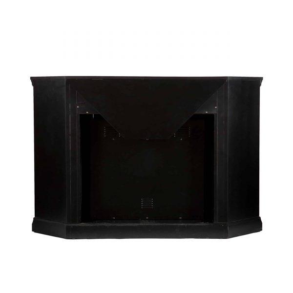 Silverado Smart Corner Fireplace with Storage - Black 7