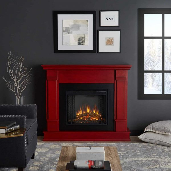 Silverton Electric Fireplace in Black by Real Flame 1