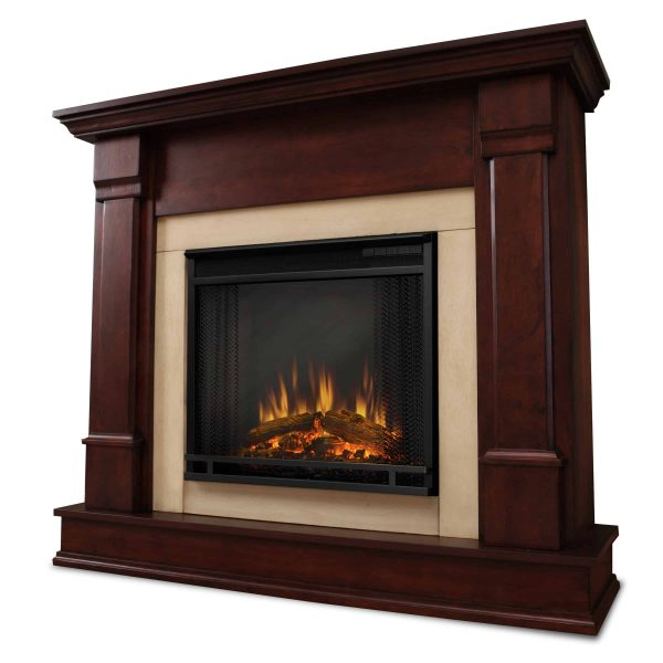 Silverton Electric Fireplace in Dark Mahogany by Real Flame