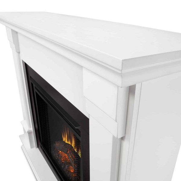 Silverton Electric Fireplace in White by Real Flame 1