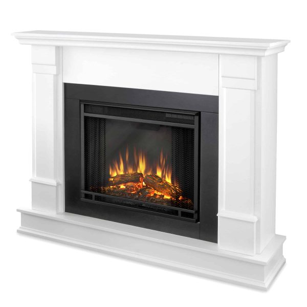 Silverton Electric Fireplace in White by Real Flame 2