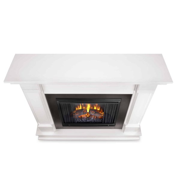 Silverton Electric Fireplace in White by Real Flame 3