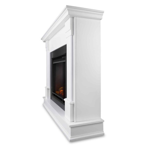 Silverton Electric Fireplace in White by Real Flame 4