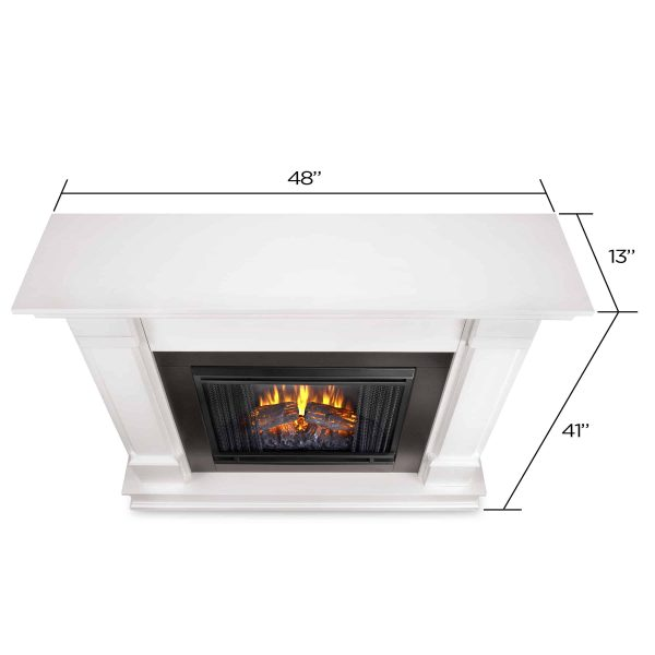 Silverton Electric Fireplace in White by Real Flame 5