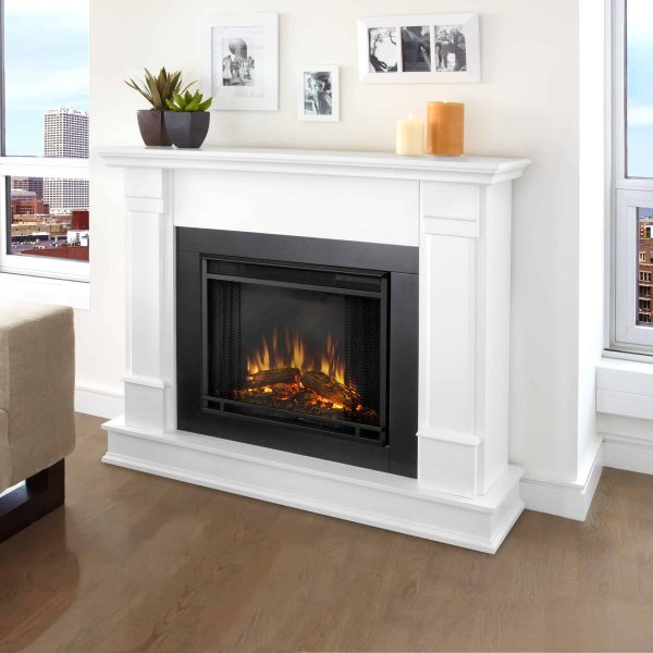 Silverton Electric Fireplace in White by Real Flame