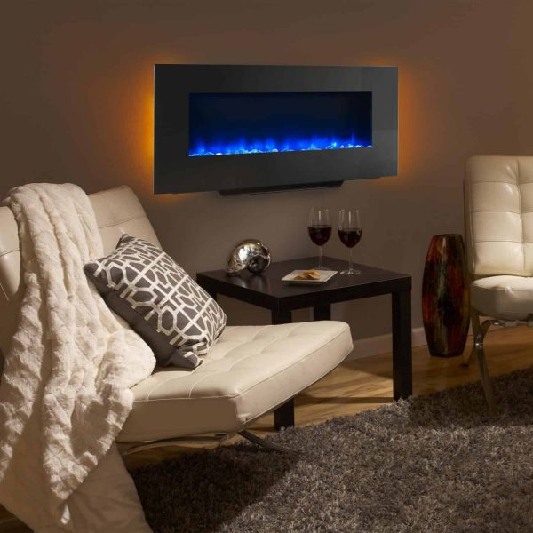 SimpliFire 38-Inch Linear Wall Mount Electric Fireplace 1