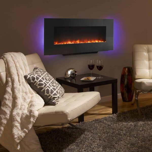 SimpliFire 38-Inch Linear Wall Mount Electric Fireplace 3