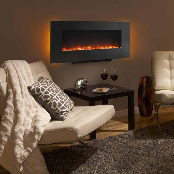 SimpliFire 38-Inch Linear Wall Mount Electric Fireplace 4