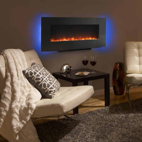 SimpliFire 38-Inch Linear Wall Mount Electric Fireplace 5