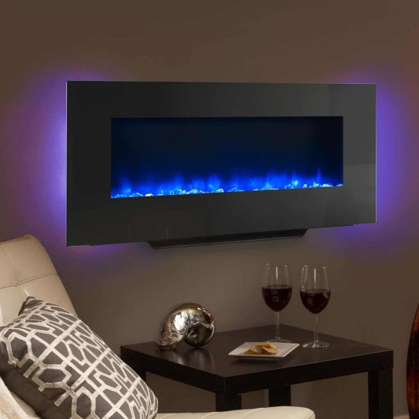 SimpliFire 38-Inch Linear Wall Mount Electric Fireplace