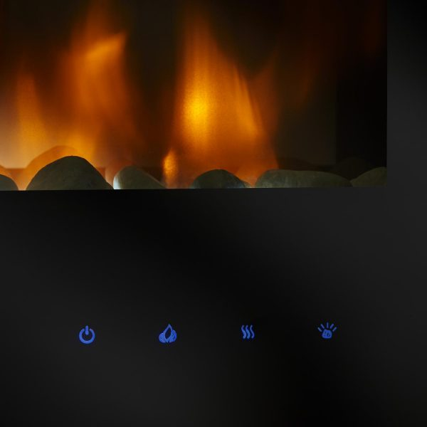 SimpliFire Allusion 60-Inch Wall Mount Electric Fireplace 4