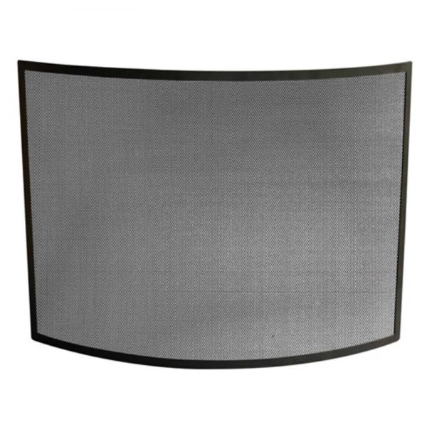 Single Panel Curved Black Wrought Iron Screen
