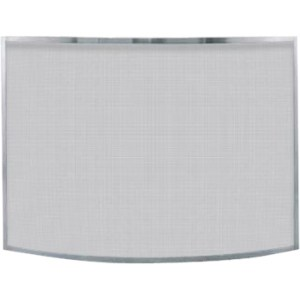 Single Panel Curved Pewter Fireplace Screen 1