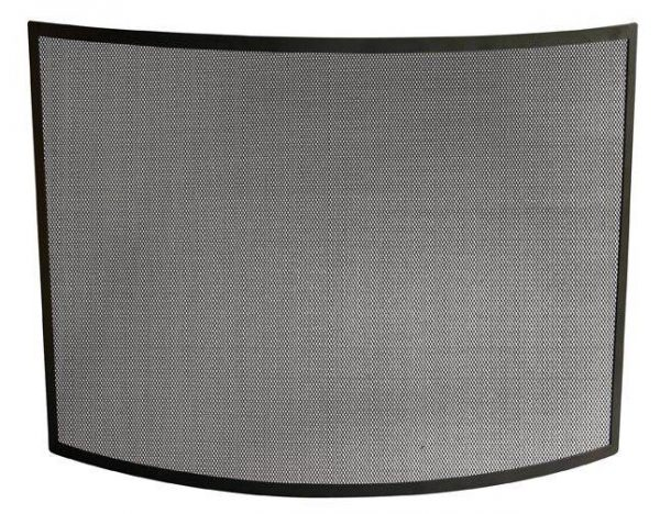Single Panel Fireplace Screen w Curved Frame