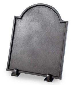 Small Cast Iron Plain Fireplace Fireback
