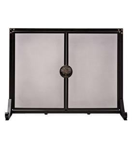 Small Greenwood Fireplace Fire Screen with Doors