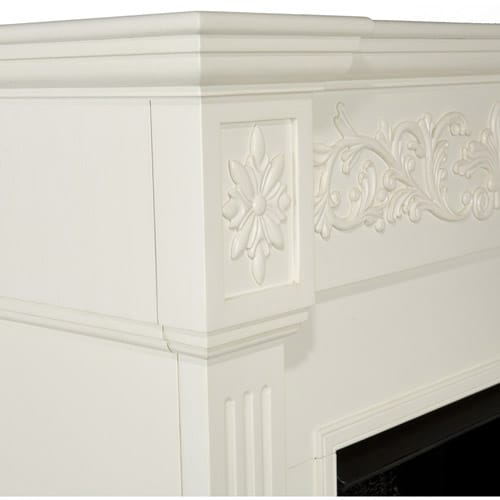 Southern Enteprises Jordan Electric Fireplace, Ivory 4